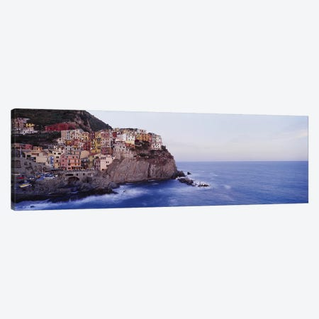 Coastal Village Of Manarola, Riomaggiore, La Spezia, Liguria Region, Italy Canvas Print #PIM2787} by Panoramic Images Art Print