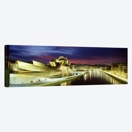 Guggenheim Museum At Night, Bilbao, Biscay, Basque Country, Spain Canvas Print #PIM2788} by Panoramic Images Canvas Artwork