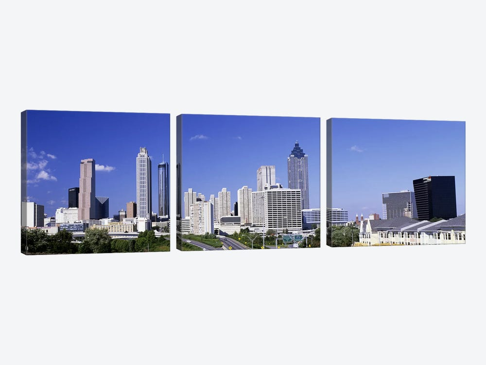 Skyscrapers in a city, Atlanta, Georgia, USA #4 by Panoramic Images 3-piece Canvas Wall Art
