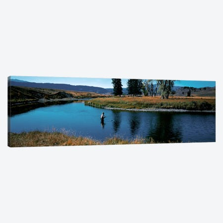 Trout fisherman Slough Creek Yellowstone National Park WY Canvas Print #PIM278} by Panoramic Images Canvas Print