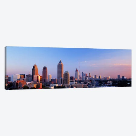 Twilight, Skyline, Atlanta, Georgia, USA Canvas Print #PIM2790} by Panoramic Images Art Print