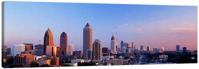 Twilight, Skyline, Atlanta, Georgia, USA Canvas Art Print