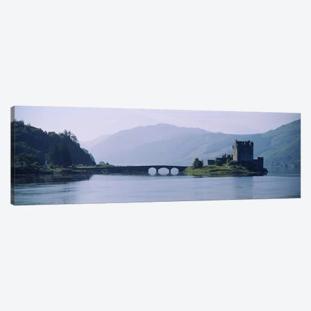 Castle at the lakesideEilean Donan Castle, Loch Duich, Highlands Region, Scotland Canvas Print #PIM2791} by Panoramic Images Art Print