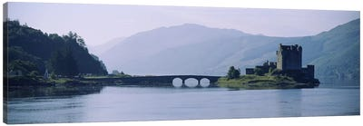 Castle at the lakesideEilean Donan Castle, Loch Duich, Highlands Region, Scotland Canvas Art Print