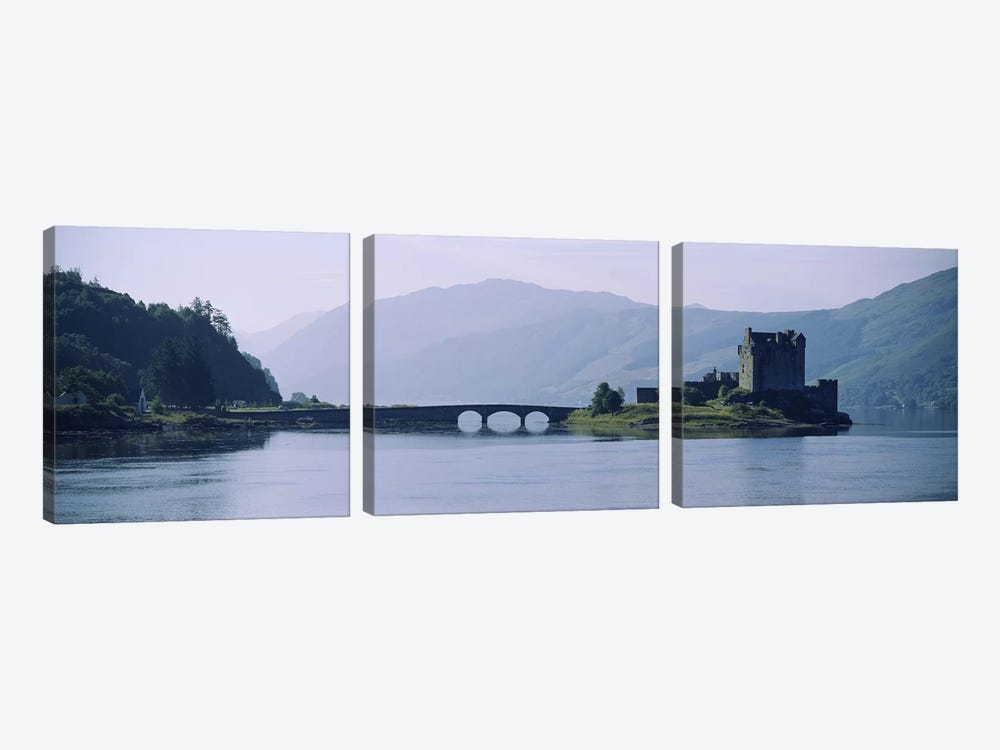 Castle at the lakesideEilean Donan Castle, Loch Duich, Highlands Region, Scotland by Panoramic Images 3-piece Art Print