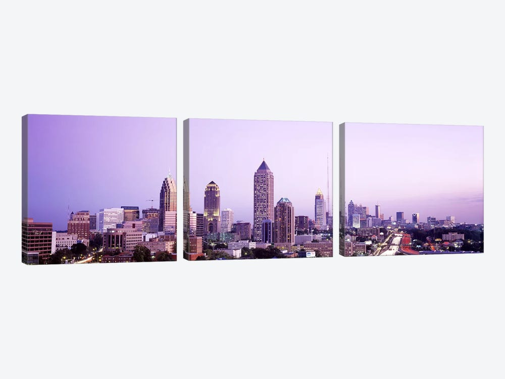 Twilight, Atlanta, Georgia, USA by Panoramic Images 3-piece Canvas Wall Art