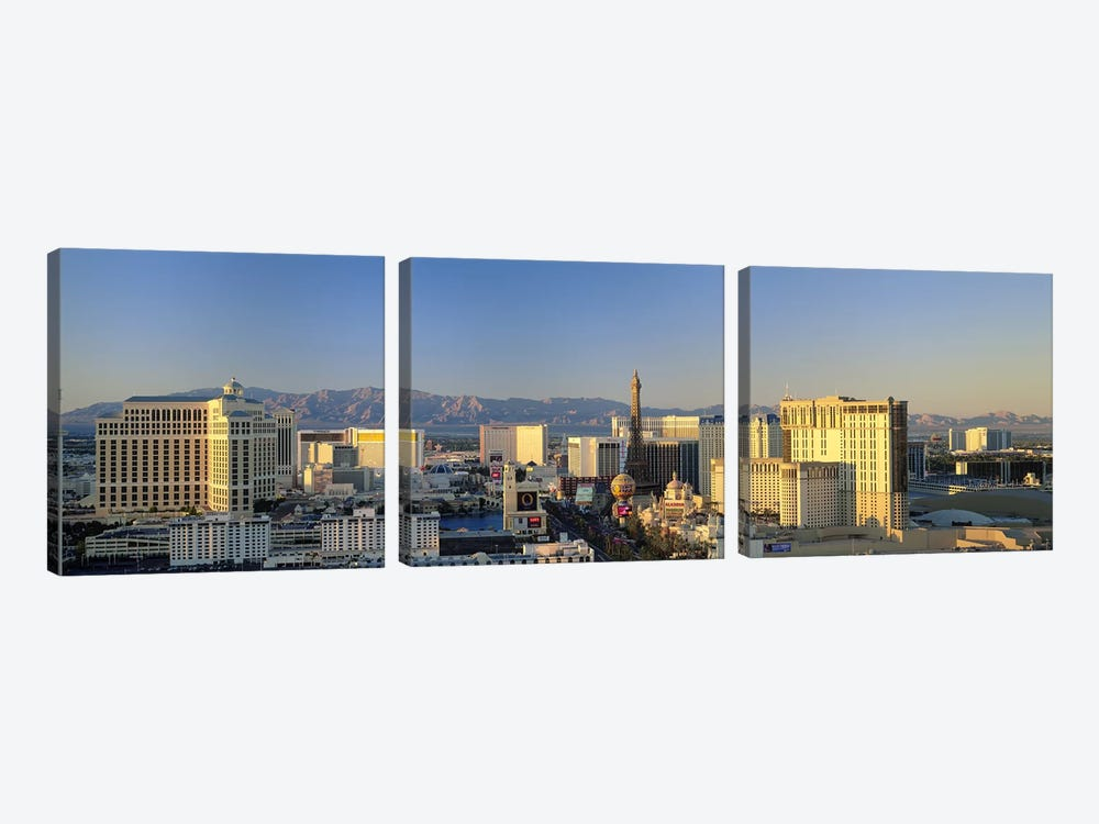 High Angle View Of Buildings In A City, Las Vegas, Nevada, USA #2 by Panoramic Images 3-piece Art Print