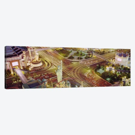 The Strip, Las Vegas, Nevada, USA #3 Canvas Print #PIM2795} by Panoramic Images Canvas Art