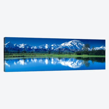 Mt McKinley and Wonder Lake Denali National Park AK Canvas Print #PIM279} by Panoramic Images Art Print