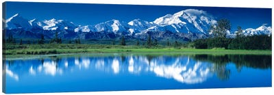 Mt McKinley and Wonder Lake Denali National Park AK Canvas Art Print