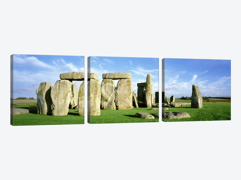 Stonehenge, Wiltshire, England, United Kingdom by Panoramic Images 3-piece Canvas Artwork
