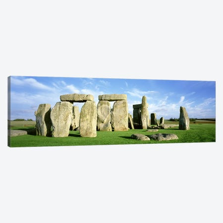 Stonehenge, Wiltshire, England, United Kingdom 3-Piece Canvas #PIM2801} by Panoramic Images Canvas Art Print