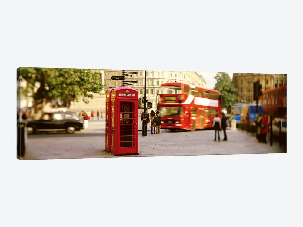 Red Phone Box, Trafalgar Square, London, England, United Kingdom by Panoramic Images 1-piece Canvas Print