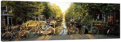 Row Of Bicycles, Amsterdam, Netherlands Canvas Art Print