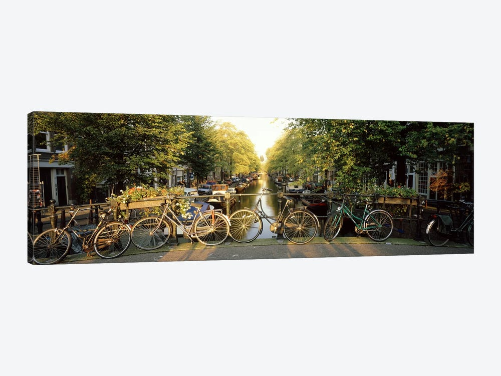 Row Of Bicycles, Amsterdam, Netherlands by Panoramic Images 1-piece Canvas Art Print