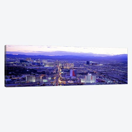 Dusk The Strip Las Vegas NV USA Canvas Print #PIM2813} by Panoramic Images Canvas Artwork