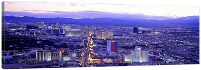 Dusk The Strip Las Vegas NV USA Canvas Print #PIM2813