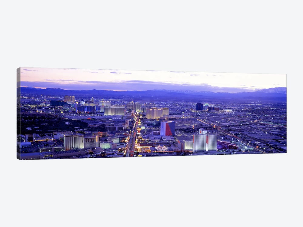 Dusk The Strip Las Vegas NV USA by Panoramic Images 1-piece Canvas Print