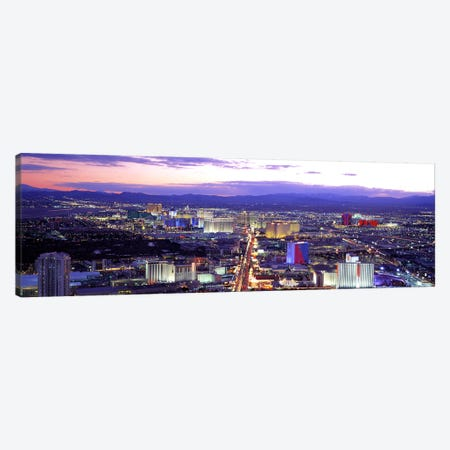 Dusk Las Vegas NV USA Canvas Print #PIM2814} by Panoramic Images Canvas Print