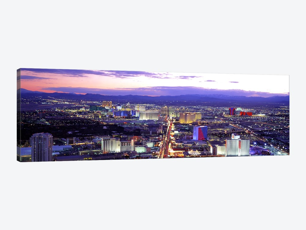 Dusk Las Vegas NV USA by Panoramic Images 1-piece Canvas Artwork
