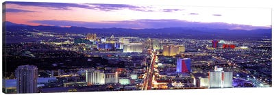 Dusk Las Vegas NV USA Canvas Art Print