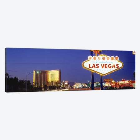 Las Vegas Sign, Las Vegas Nevada, USA Canvas Print #PIM2815} by Panoramic Images Canvas Print