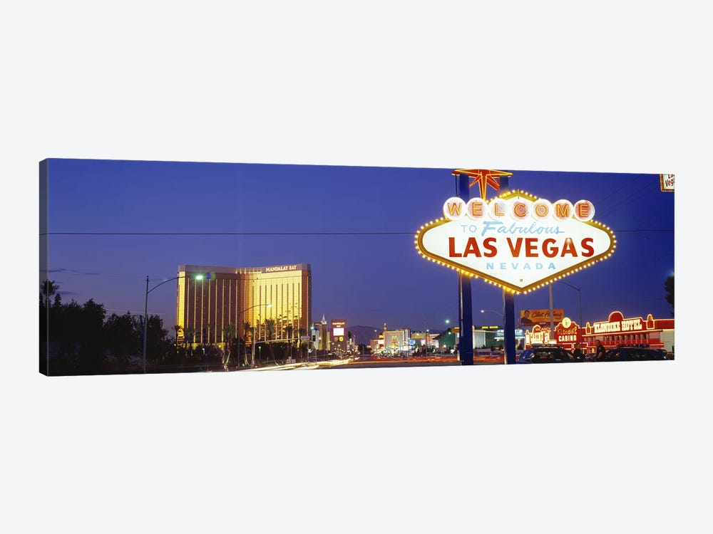 Las Vegas Sign, Las Vegas Nevada, USA by Panoramic Images 1-piece Canvas Print