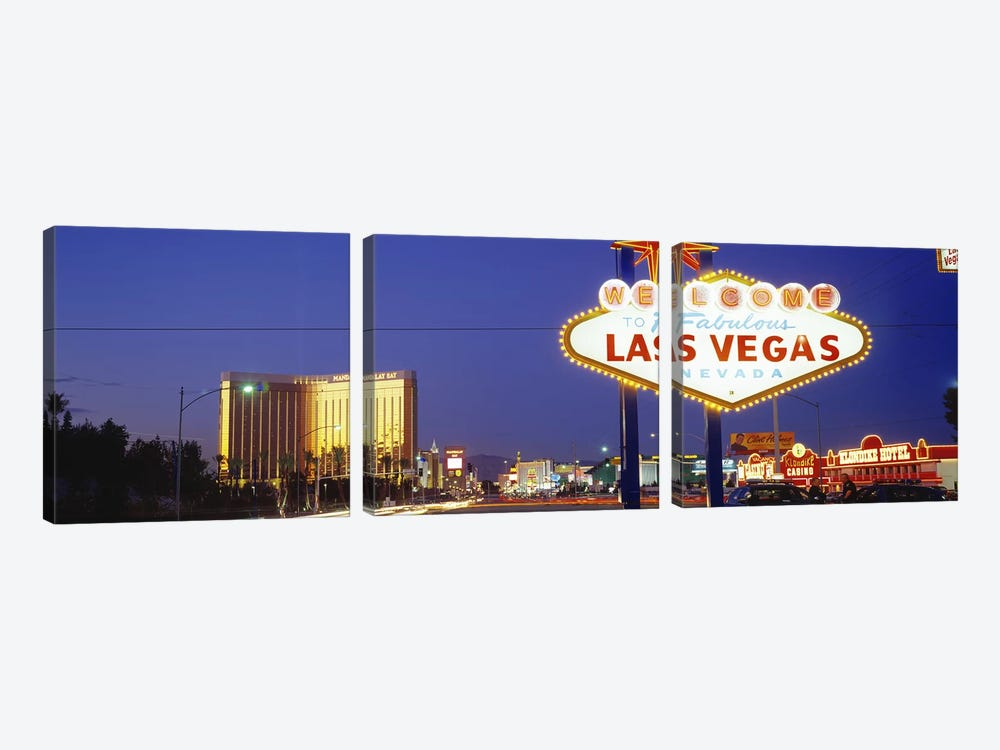 Las Vegas Sign, Las Vegas Nevada, USA by Panoramic Images 3-piece Art Print