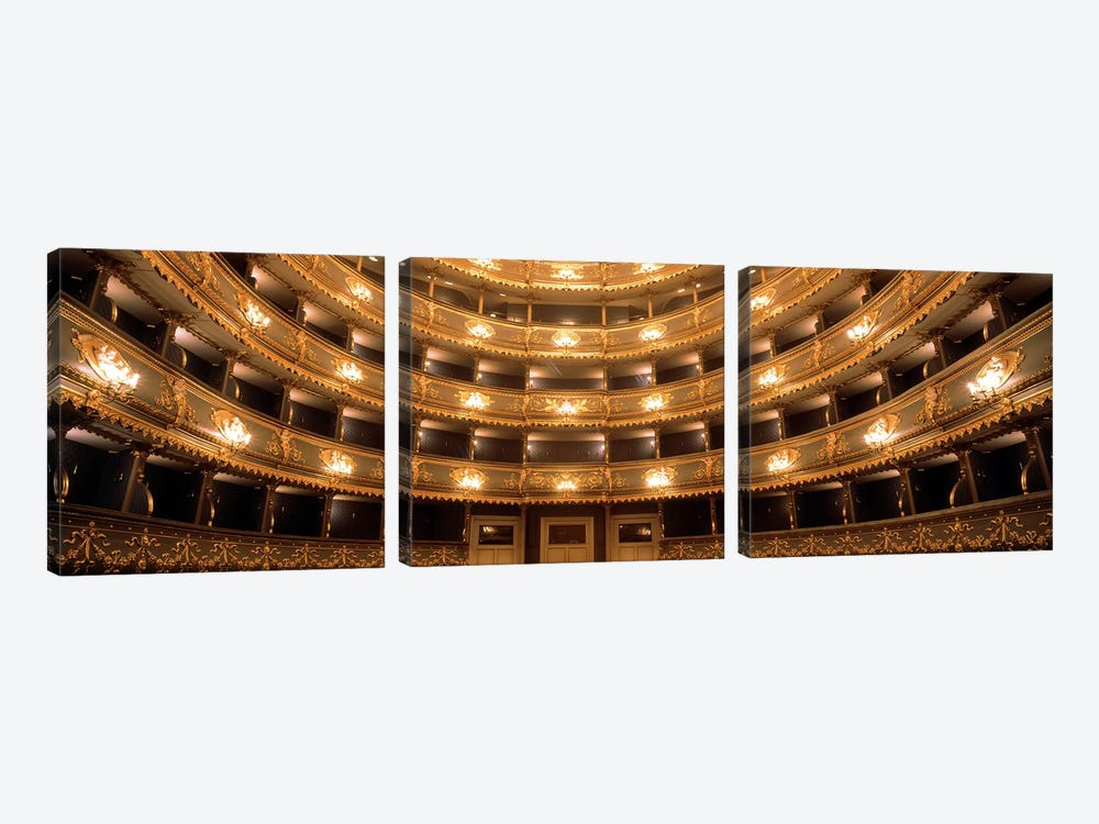 Interior View, Estates Theatre (Stavovske Divadlo), Prague, Czech Republic by Panoramic Images 3-piece Art Print