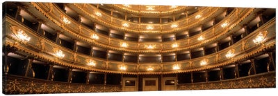 Interior View, Estates Theatre (Stavovske Divadlo), Prague, Czech Republic Canvas Art Print