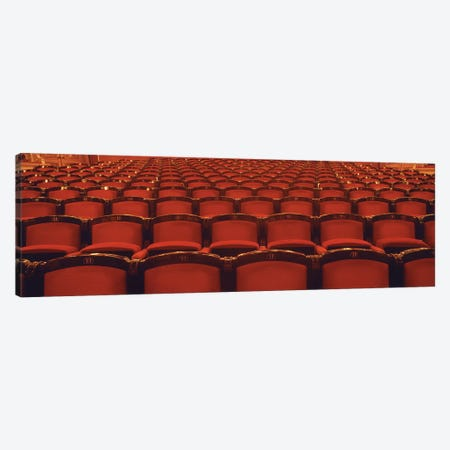 Ground Floor Seating In Zoom, National Theatre (Narodni Divadlo), Prague, Czech Republic Canvas Print #PIM2818} by Panoramic Images Canvas Wall Art