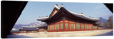 Courtyard of a palaceKyongbok Palace, Seoul, South Korea, Korea Canvas Print #PIM2819