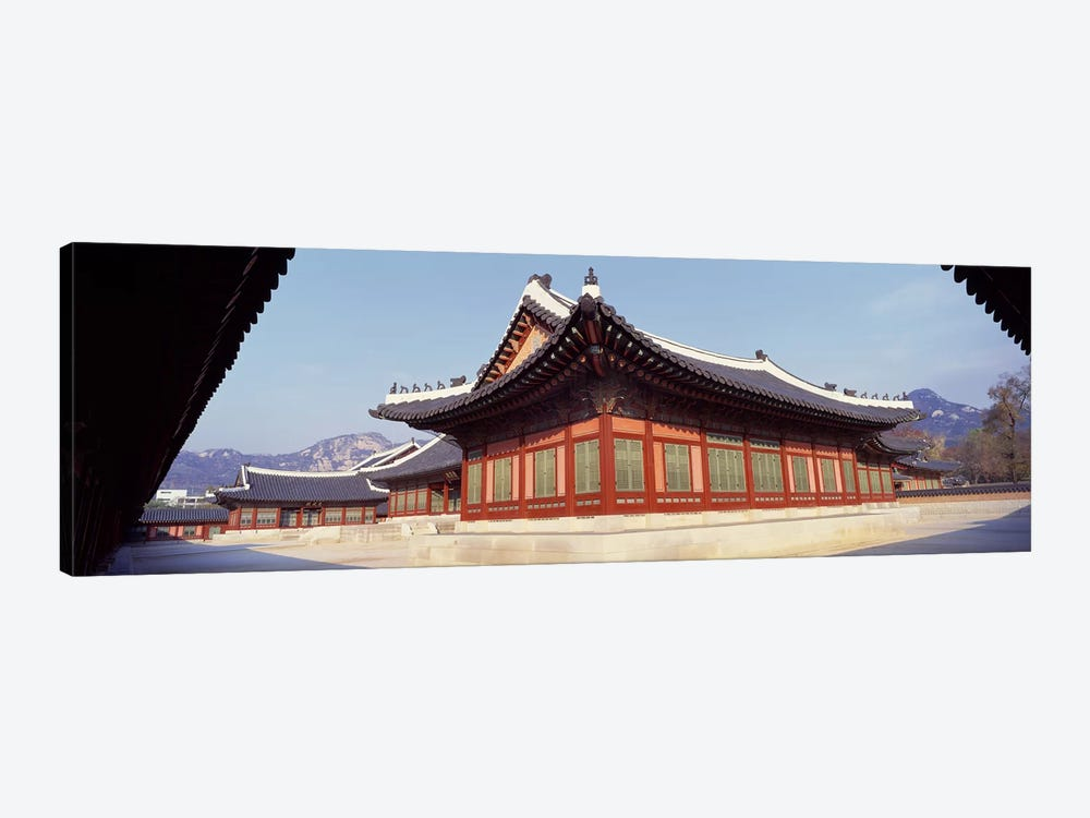 Courtyard of a palaceKyongbok Palace, Seoul, South Korea, Korea by Panoramic Images 1-piece Canvas Print