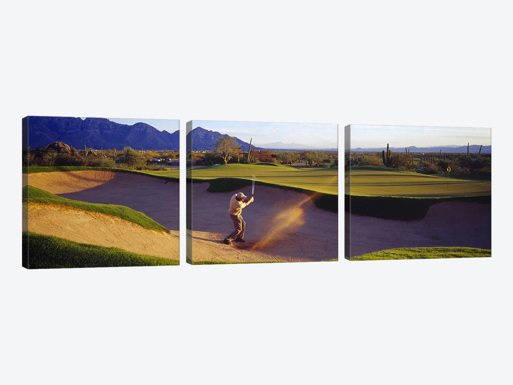 Golf Course Tucson AZ USA by Panoramic Images 3-piece Canvas Artwork