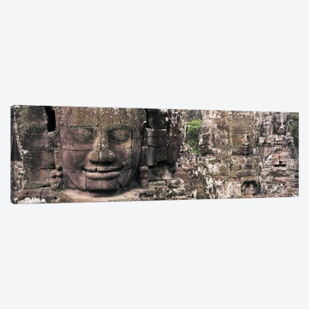 Stone Faces Bayon Angkor Siem Reap Cambodia Canvas Print #PIM2825} by Panoramic Images Canvas Wall Art