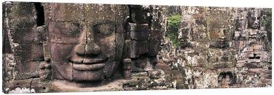 Stone Faces Bayon Angkor Siem Reap Cambodia Canvas Print #PIM2825