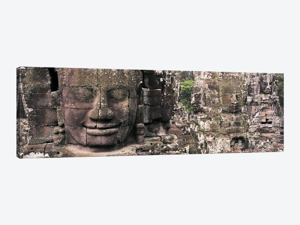 Stone Faces Bayon Angkor Siem Reap Cambodia by Panoramic Images 1-piece Canvas Wall Art