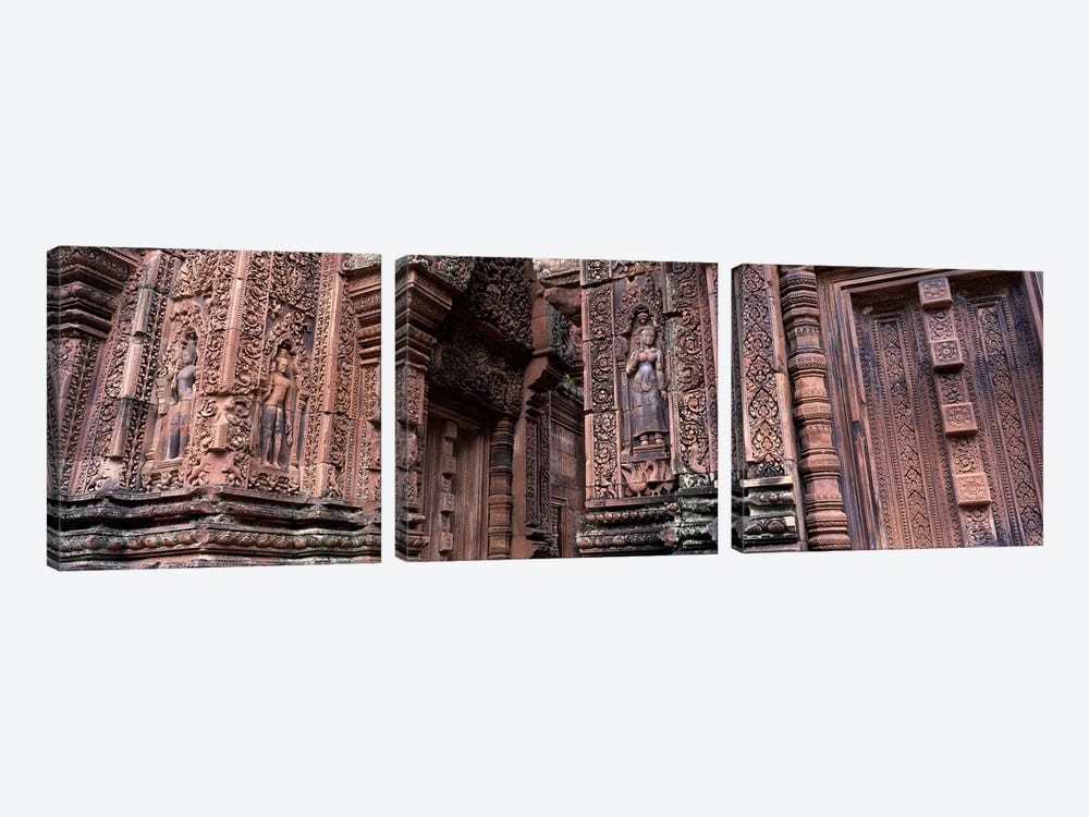Bantreay Srei nr Siem Reap Cambodia by Panoramic Images 3-piece Canvas Print