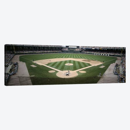 Baseball match in progressU.S. Cellular Field, Chicago, Cook County, Illinois, USA Canvas Print #PIM2827} by Panoramic Images Canvas Art