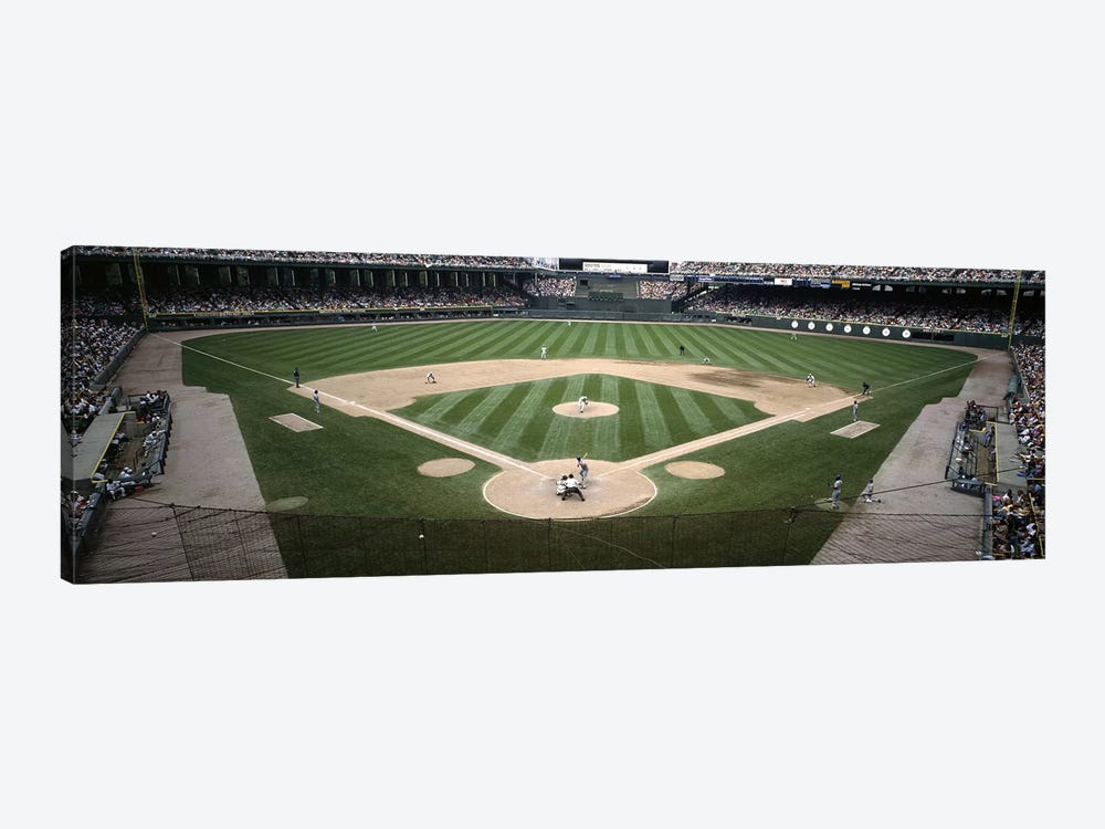 Baseball match in progressU.S. Cellular Field, Chicago, Cook County, Illinois, USA by Panoramic Images 1-piece Canvas Artwork