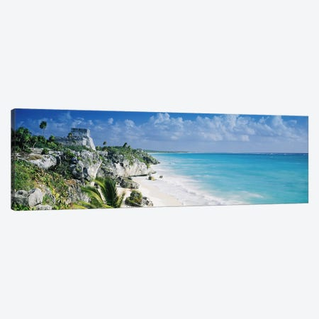 El Castillo, Tulum, Quintana Roo, Mexico Canvas Print #PIM2828} by Panoramic Images Canvas Art Print