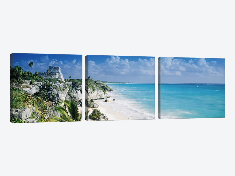 El Castillo, Tulum, Quintana Roo, Mexico by Panoramic Images 3-piece Canvas Art Print
