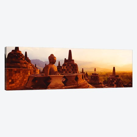 Borobudur Buddhist Temple Java Indonesia Canvas Print #PIM2829} by Panoramic Images Canvas Print