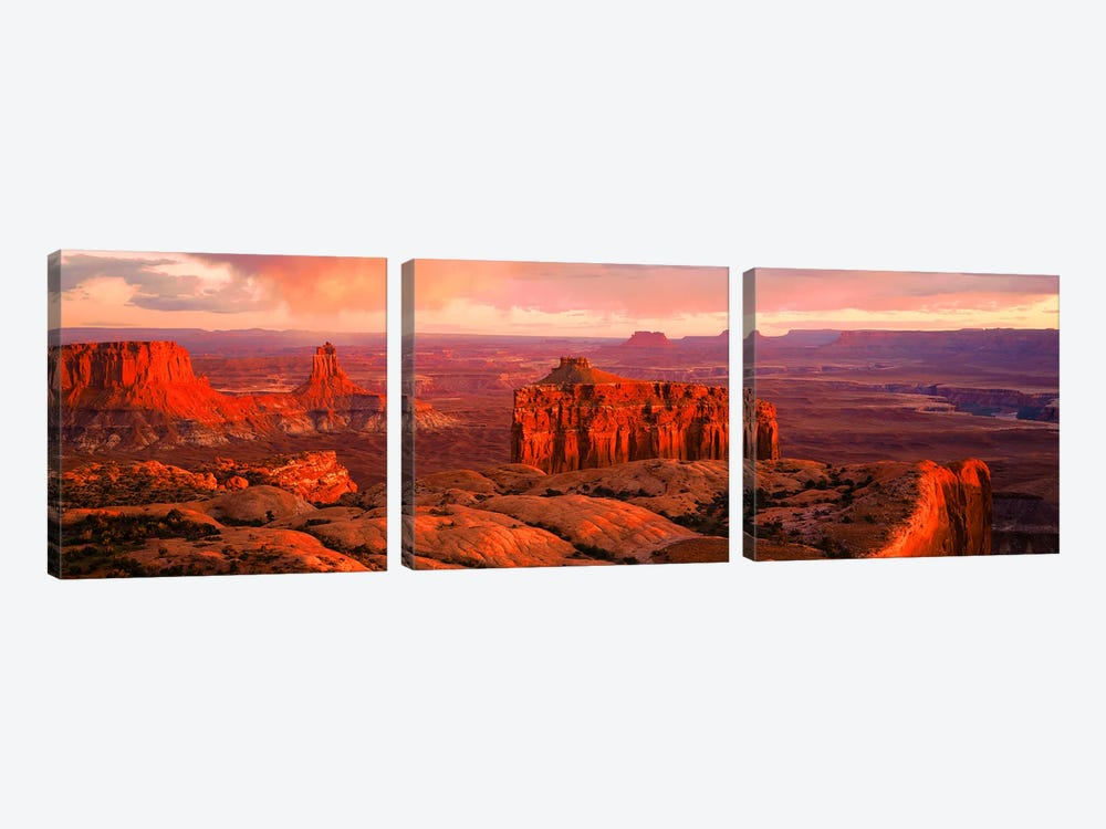 Canyonlands National Park UT USA by Panoramic Images 3-piece Canvas Artwork