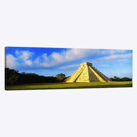 Pyramid in a field, Kukulkan Pyramid, Chichen Itza, Yucatan, Mexico Canvas Print #PIM2831} by Panoramic Images Canvas Wall Art