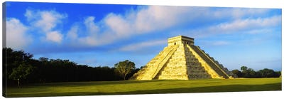 Pyramid in a field, Kukulkan Pyramid, Chichen Itza, Yucatan, Mexico Canvas Art Print