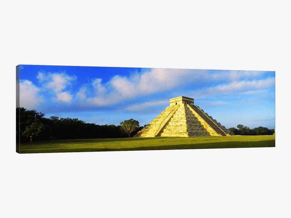 Pyramid in a field, Kukulkan Pyramid, Chichen Itza, Yucatan, Mexico by Panoramic Images 1-piece Art Print