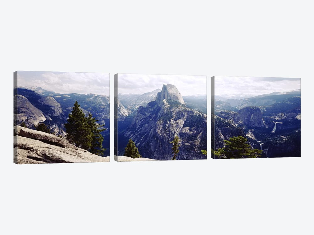 Half Dome High Sierras Yosemite National Park CA by Panoramic Images 3-piece Canvas Artwork