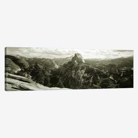 Half Dome In B&W, Yosemite National Park, California, USA Canvas Print #PIM2833} by Panoramic Images Canvas Wall Art