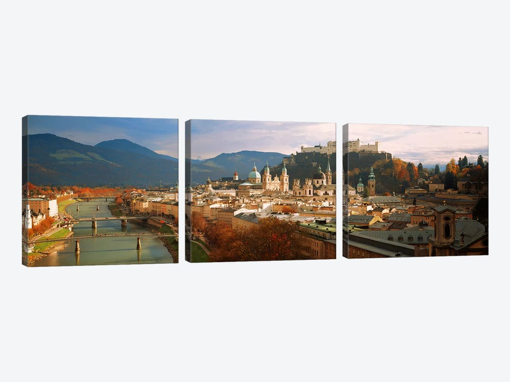 Cityscape Salzburg Austria by Panoramic Images 3-piece Canvas Wall Art